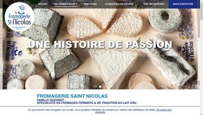Site internet de La Fromagerie Saint Nicolas
