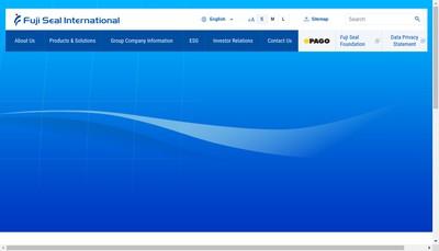 Site internet de Fuji Seal Europe