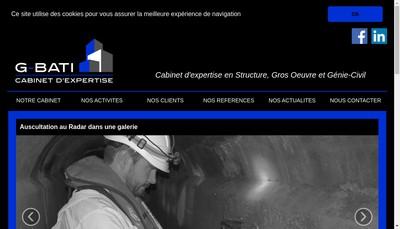 Site internet de G-Bati