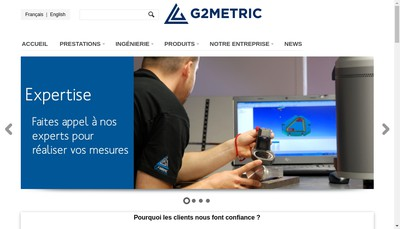 Site internet de G2 Metric