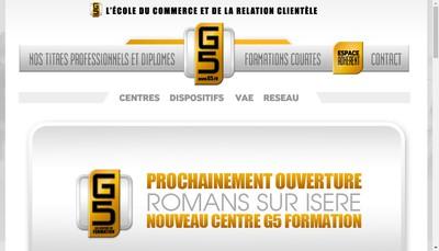 Site internet de G5 Formation