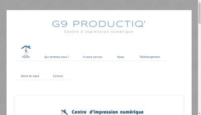 Site internet de G9 Productiq'