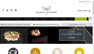 Site internet de Galerie Culinaire Paris