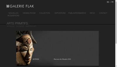 Site internet de Galerie Flak
