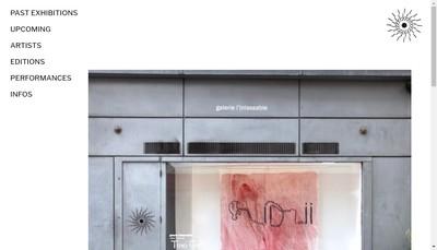 Site internet de Galerie l'Inlassable