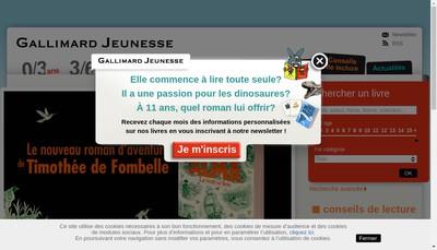 Site internet de Gallimard Jeunesse