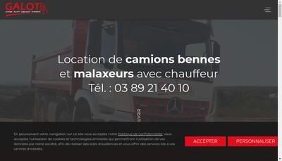 Site internet de Groupe Alsace Logistique Transport