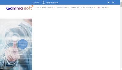 Site internet de Gamma Soft