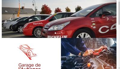 Site internet de Garage de l'Aubance
