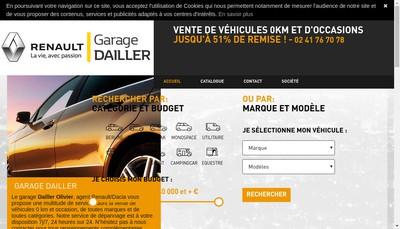 Site internet de SARL Garage Dailler