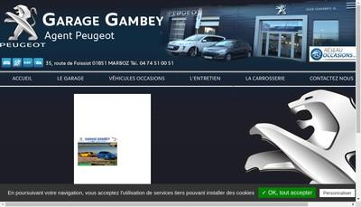 Site internet de Garage Gambey