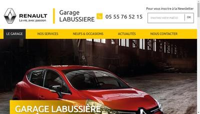 Site internet de Garage Labussiere