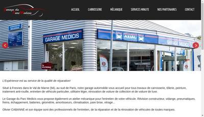 Site internet de Garage Medicis
