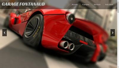Site internet de Garage Fontanaud