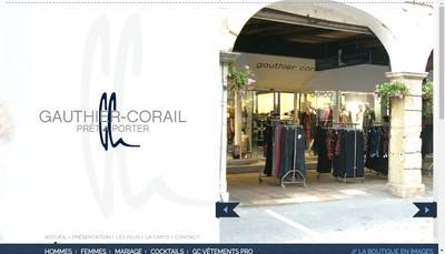 Site internet de Gauthier Corail