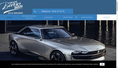 Site internet de Gerald Bertin Autos