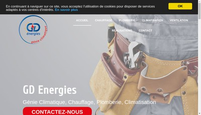 Site internet de Gd Energies