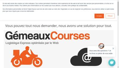 Site internet de Gemeaux Courses