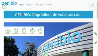 Site internet de Genibio