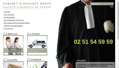 Site internet de Cabinet d'Avocats Genty