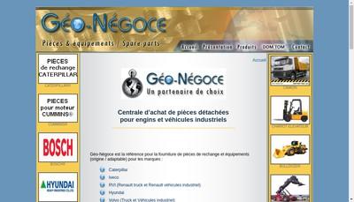 Site internet de Geo-Negoce