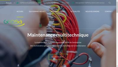 Site internet de Gepsa Institut