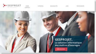 Site internet de Gesprojet By Pro-Logiq
