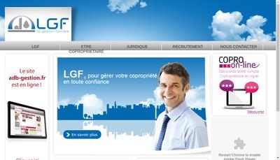 Site internet de La Gestion Fonciere