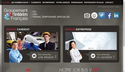 Site internet de Groupement de l'Interim Francais