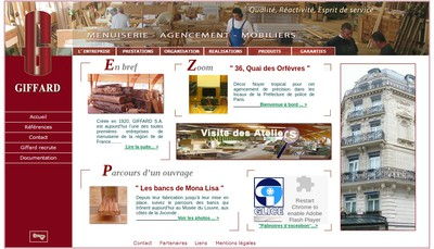 Site internet de Les Etablissements Giffard