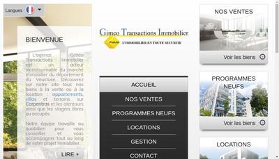 Site internet de Gimco Transactions