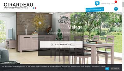 Site internet de Meubles Girardeau