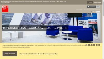 Site internet de Gl Events Mobilier