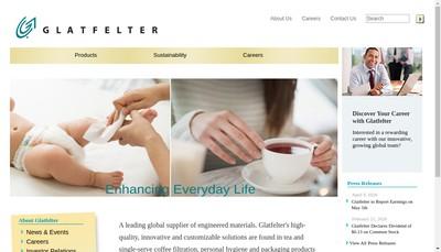 Site internet de Glatfelter Scaer SAS