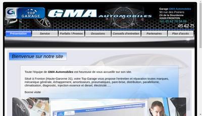 Site internet de Gma Automobiles