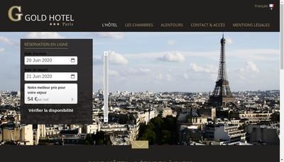 Site internet de Goldhotel