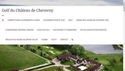 Site internet de Societe Nouvelle du Golf du Chateau de Cheverny