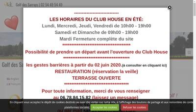 Site internet de Golf des Sarrays