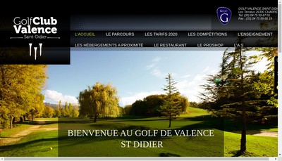 Site internet de Golf Valence Saint Didier