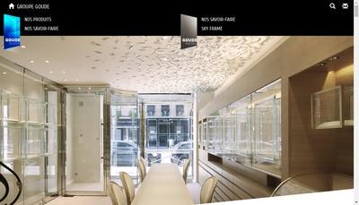 Site internet de Goude Glass - Groupe Mvr