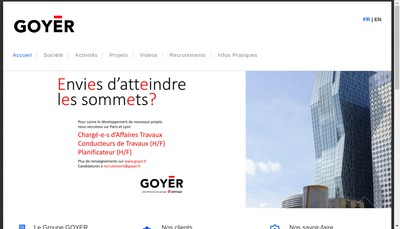 Site internet de Groupe Goyer