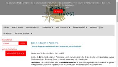 Site internet de Gps Invest
