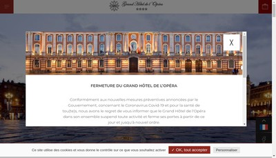 Site internet de Societe du Grand Hotel de l'Opera