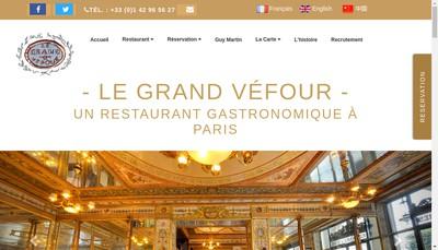 Site internet de Vefour Management, Groupe Vefour