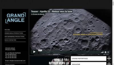 Site internet de Grand Angle Productions