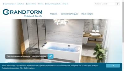 Site internet de Blanc et Grandform