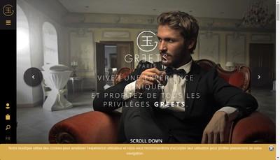 Site internet de Greets Paris