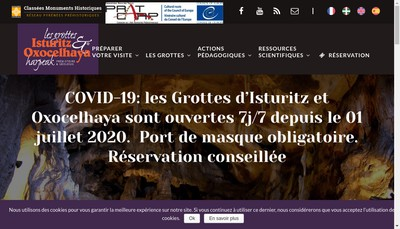 Site internet de Grottes d'Isturitz et d'Oxocelhaya