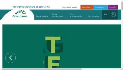 Site internet de Groupama Holding Filiales et Participations