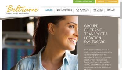 Site internet de Voyages Beltrame